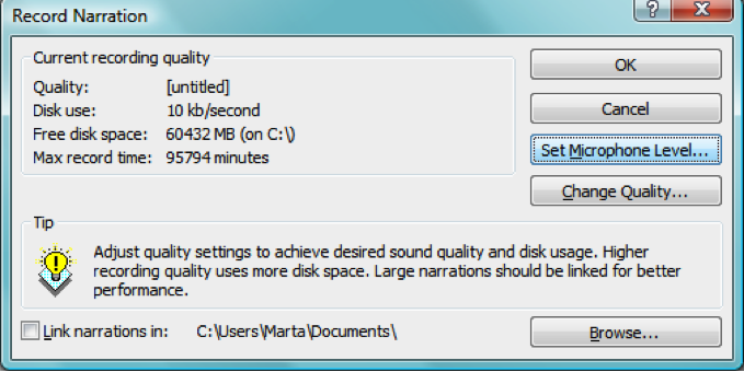 how to add narration to powerpoint 2013